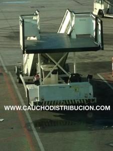 defensa de caucho tractores aeropuerto
